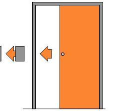 Posuvné bezfalcové dveře