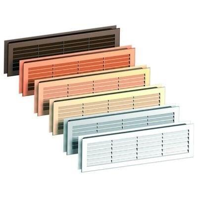 Ventilační mřížka PVC 460x135mm (bílá, šedá, hnědá, dub, javor, olše)