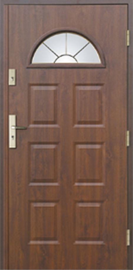 Vchodové dveře do domu MIKEA Thermika 6 Panelů s vitráží C