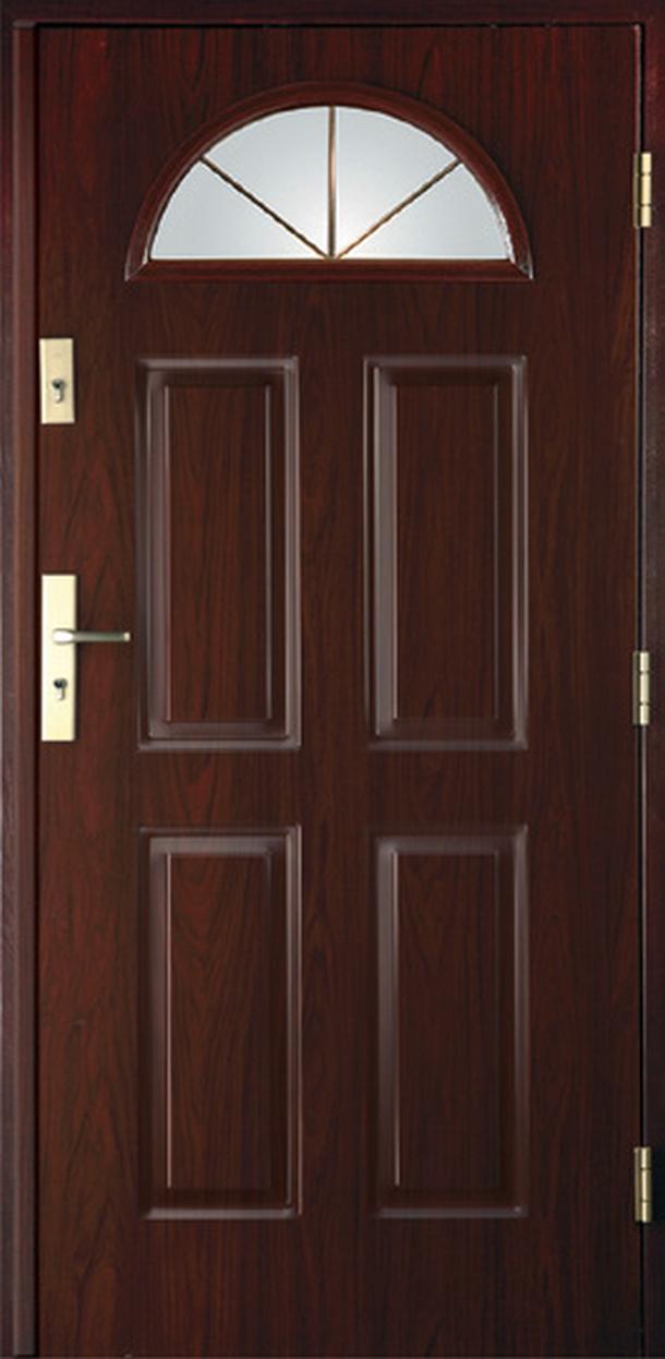 Vchodové dveře do domu MIKEA Thermika 4+2 Panely s vitráží C