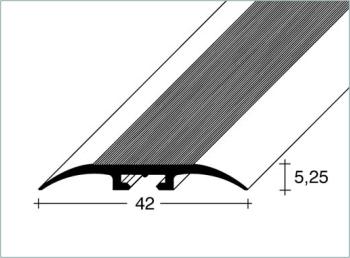 Přechodový profil FERO-FLEX plochý 0-8mm DURAL-ELOX délka 2,5m