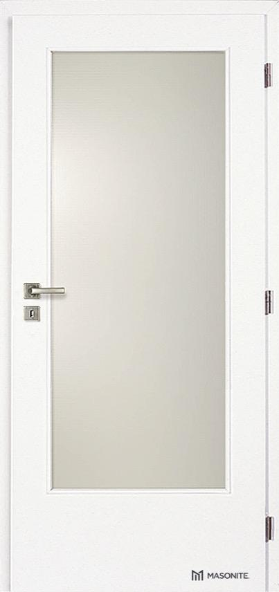 MASONITE - interiérové dveře CLARA sklo 3/4