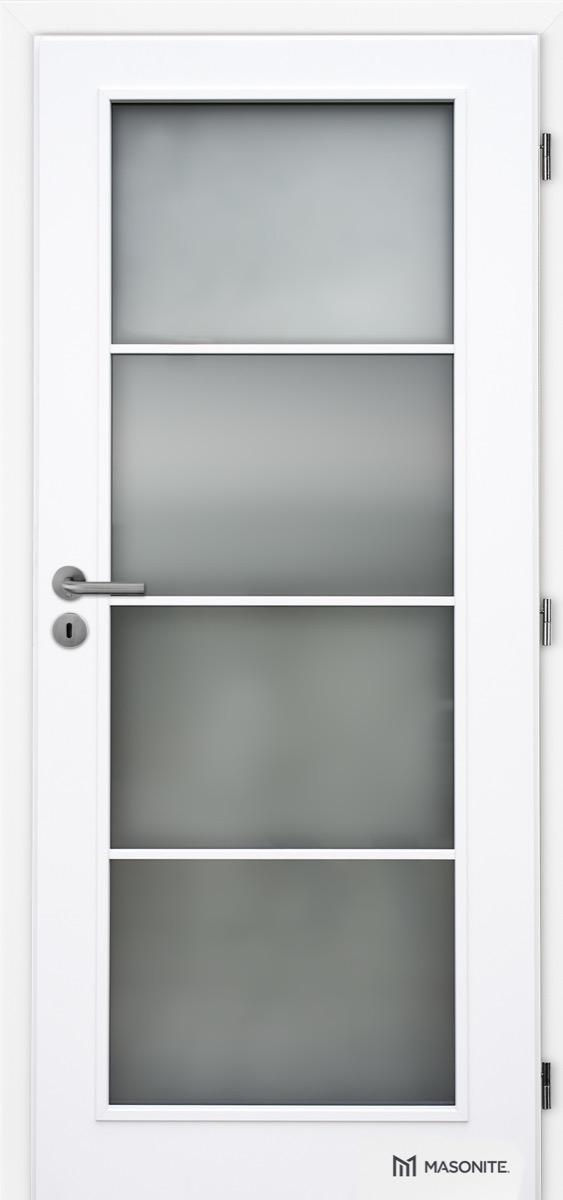 MASONITE - interiérové dveře PUR DAKOTA sklo 4/4