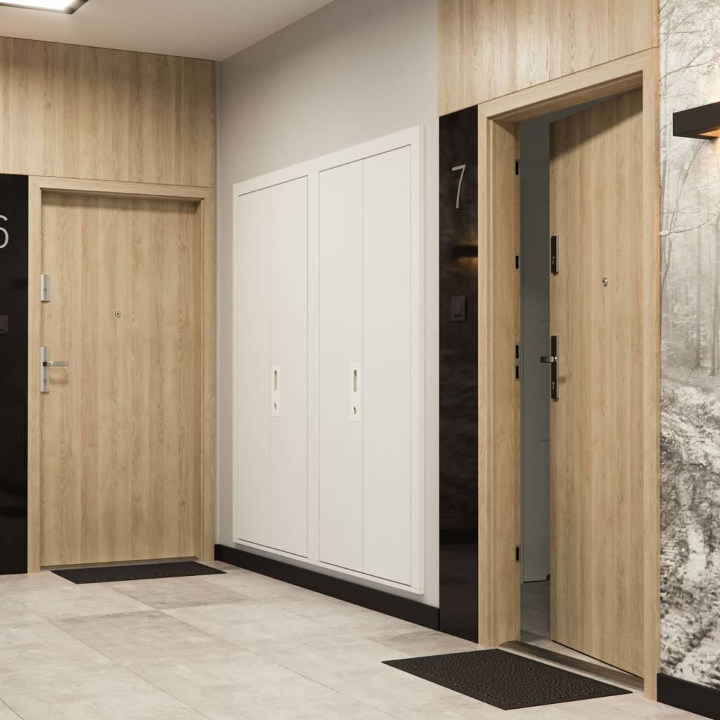 Vchodové vnitřní dveře Porta EXTREME RC 3 TYP I s ocelovou zárubní, 40 dB, kouřotěsné