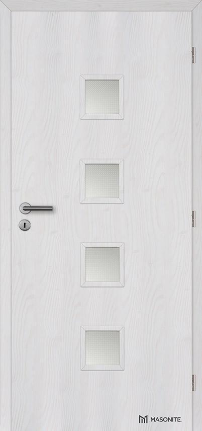 MASONITE - interiérové dveře QUADRA sklo