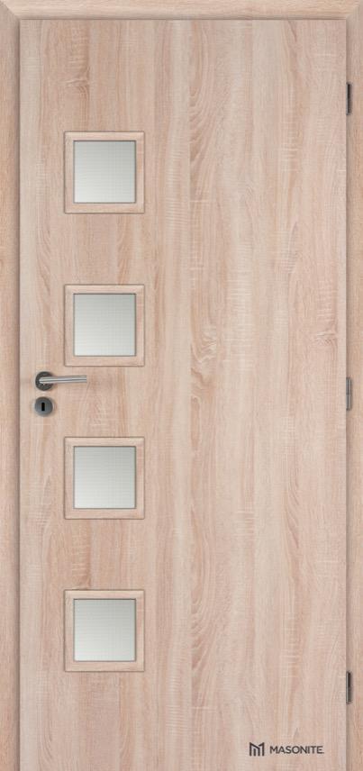 MASONITE - interiérové dveře GIGA sklo