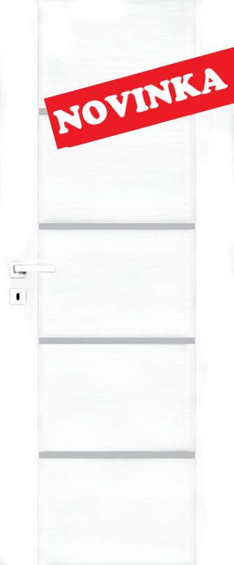Interiérové dveře DALLAS 4 - bílá hladká