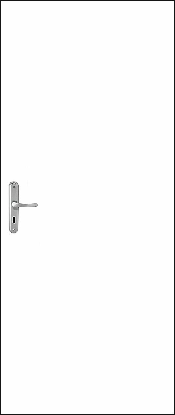 Interiérové dveře UNO - bílá hladká